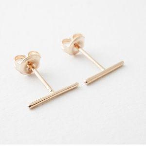 Jewelry - 14K Rose Gold Dainty Wire Studs | RG Earrings
